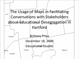 The Usage of Maps in Facilitating Conversations about