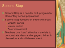 Second Step - Conflict resolution
