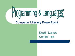 Computer Literacy PowerPoint - California State University
