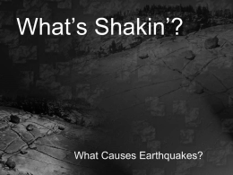 What's Shakin? - Oklahoma Alliance for Geographic