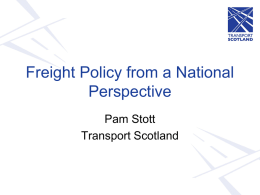 Freight Policy from a National Perspective