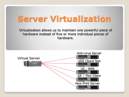Server Virtualization - University of Montana