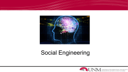 Social Engineering - University of New Mexico
