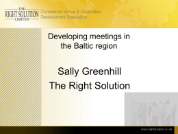 The developing meetings industry in the Baltic region