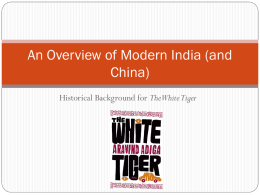 An Overview of Modern India (and China)