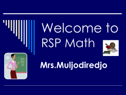 Welcome to RSP Math
