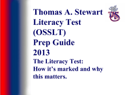 Literacy Test Prep Guide