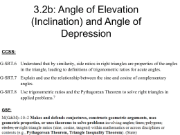 8.4: Angle of Elevation (Inclination) and Angle of Depression