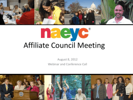 Affiliate Council Meeting