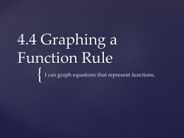 4.4 Graphing a Function Rule