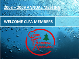 2009 CLPA ANNUAL MEETING - Chetek Lakes protection …