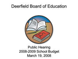 Elmer Board of Education Proposed