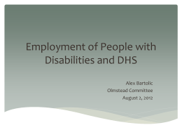 Employment of People with Disabilities and DHS