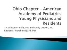 Ohio Chapter – American Academy of Pediatrics Young
