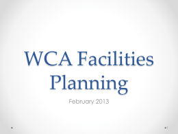 WCA Transition Plans
