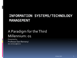 paradigms driving IS development