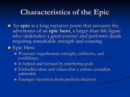 Epic Poetry Characteristic