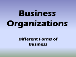 Business Organizations - North Clackamas School District