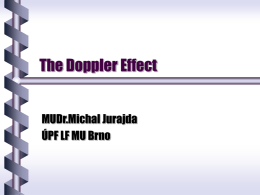 The Doppler Effect - Masaryk University