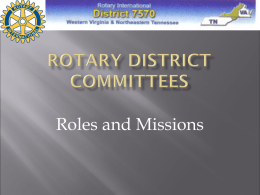 Rotary District Committees
