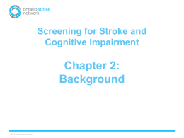 Chapter 2: Background - Ontario Stroke Network