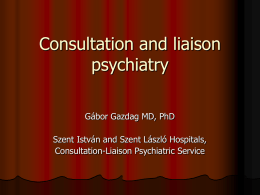 Consultation and liaison psychiatry