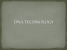 DNA TECHNOLOGY - East Pennsboro High School
