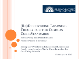(Re)Discovering Learning Theory for the Common Core Standards