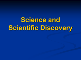 Science and Scientific Discovery