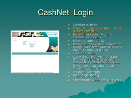CashNet Login - University of Wisconsin–Madison