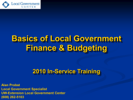 LOCAL GOVERNMENT BUDGETS