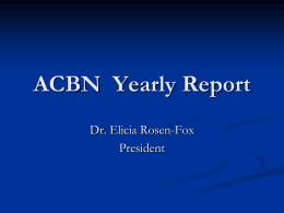 ACBN Yearly Report