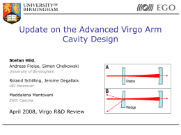 Advanced Virgo: Arm cavities with adjustable finesse