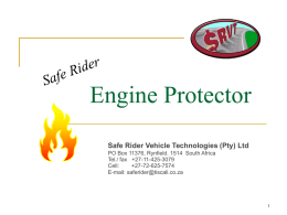 Engine Protector - Safe Rider Vehicle Technologies