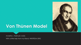 Von Thunen Model - Vista RidgeAP Human Geography