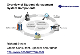 Overview of Student Management Sytems Components