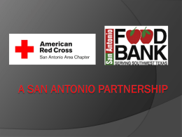 San Antonio RED CROSS AND SAN ANTONIO FOOD BANK