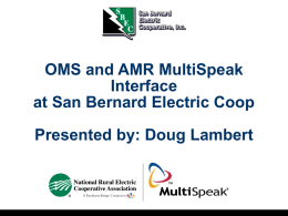 OMS and AMR MultiSpeak Interface at San Bernard Electric Coop