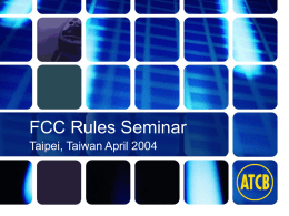 FCC Rules Seminar William H. Graff, AmericanTCB