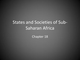 States and Societies of Sub