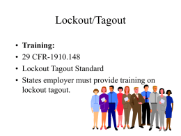 Lockout/Tagout - National Optical Astronomy Observatory