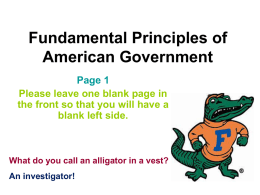 Fundamental Principles of American Government