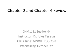 Chapter 2 and Chapter 4 Review