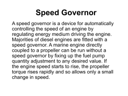 Speed Governor