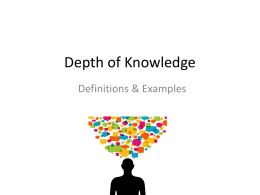 Depth of Knowledge