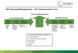 TAK Total Anskaffningskostnad – TAC Total Acquisition Cost
