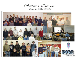 Section 1: Overview - Rochester Amateur Radio Club (RARC)