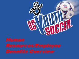 Welcome to the... - United States Youth Soccer Association