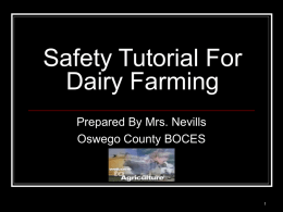 Safety Tutorial For Agriculture