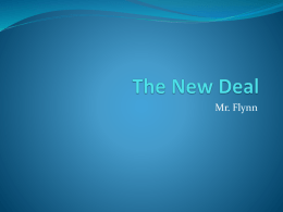The New Deal - Eaton High School